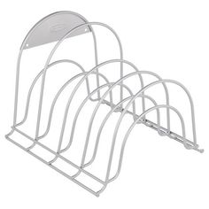 You can get these at Walmart, then use them to stack baking dishes, pans or lids. Great space saver.