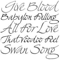 Handwritten font. Has a nice flowing feel. #font #handwriting