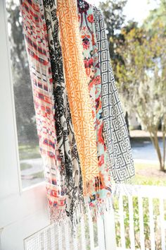 Spartina Bamboo Weave Scarves, Available at Dolce Dimora