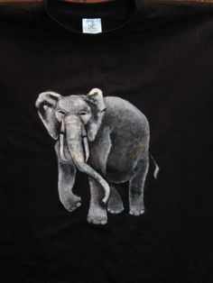 an elephant painted on shirt