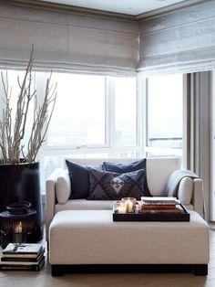 Corner seating living room sofas reading nooks ideas for 2019 Home Living Room, Living Room Decor, Living Spaces, Small Living, Decor Room, Corner Seating, Bedroom Seating, Bedroom Chair, Cozy Corner