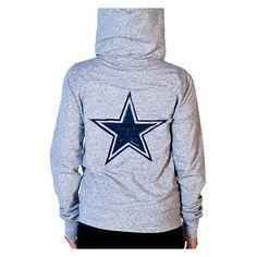 Dallas Cowboys PINK Watercolor Star Full Zip Hoodie