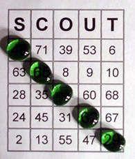 Downloadable Scout bingo! - http://crafts.kaboose.com/scout-bingo.html