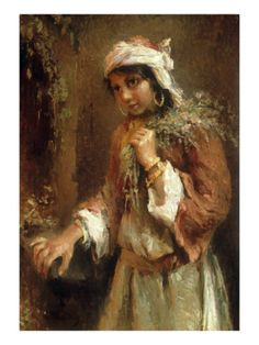 Konstantin Egorovich Makovsky - Gypsy Girl