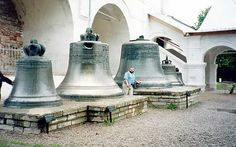 Medieval bells,15th century from the   Zamensky Cathedral ,Veliky Novgorod  Russia