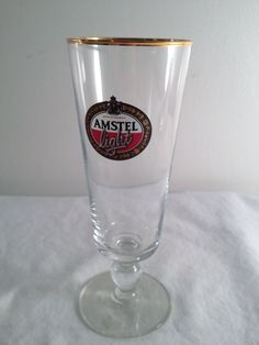 Amstel Light, beer glass, 7.25in