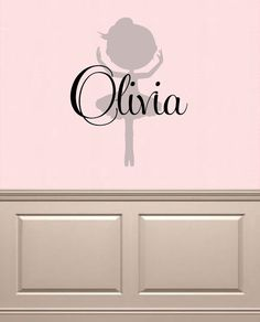Ballerina Name Vinyl Monogram Wall Decal Vinyl by OZAVinylGraphics
