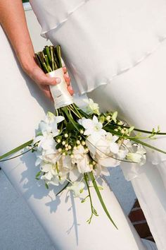 Bouquet sposa orchidee bianche