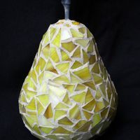 Stained Glass 3-D Mosaic Pear | artsyphartsy - Mosaics on ArtFire