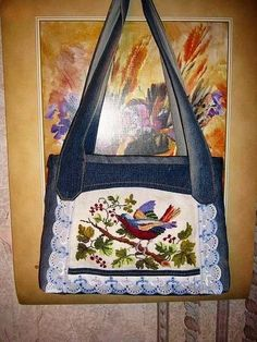 Made of Jeans Denim ~ DIY Tutorial Ideas! Blue Jean Quilts, Denim Rug, Denim Handbags, Denim Ideas, Recycle Jeans, Recycled Denim, Patchwork Bags, Bag Patterns To Sew, Diy Hair Accessories
