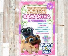 50% OFF Puppy Dog Pals Invitation Printable Pink Puppy Dog