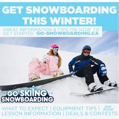 Learn to snowboard on your resolutions for 2013? Check out go-snowboarding.ca for information and tips on how to get started.
