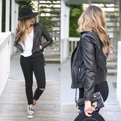 Vegan Leather Moto Jacket #Anthropologie #MyAnthroPhoto