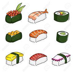 sushi drawing - Google Search