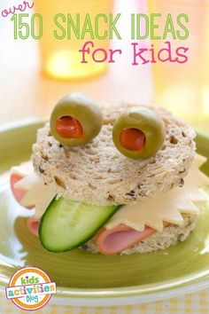 Oh my goodness! Over 150 Kid Snack Ideas...surely something they will eat is on the list.