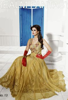 CHARMING BEIGE COLOR NET WEDDING GOWN WITH SANTOON INNER Buy Now : http://bit.ly/1Qf3325 Price : Rs. 6,255/- Only Free Shipping in India #DesignerGown, #PartyWearGown, #WomenFashion