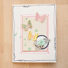 Butterflies Card by maggie holmes at @Studio_Calico