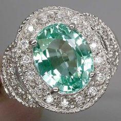 Paraiba green tourmaline ring