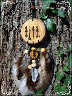 Svefnthorn  Sleep Thorn Bind Rune Talisman  Larch by NorthernLytes, $22.00
