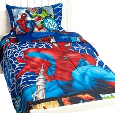 MARVEL Spiderman Comic Twin Comforter at http://suliaszone.com/marvel-spiderman-comic-twin-comforter/