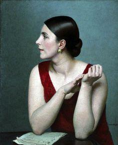 Laura Knight (British painter) 1877 - 1970 Ethel Bartlett (1896–1978), before 1927
