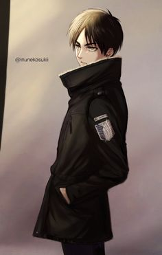 "aurieackerman: "" Model Eren. Artist: Lena_レナ 