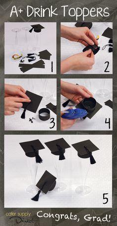 DIY Graduation Drink Toppers