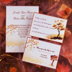 fall wedding ideas-wedding invitations