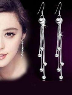 925 silver angel earrings retro fashion long earrings tassel Ear Studs for women Jewelry Silver Tassel Earrings, Tassel Earing, Angel Earrings, Sterling Silver Earrings Studs, Women's Earrings, 925 Silver, Pendant Earrings, Silver Ring, Fashion Earrings