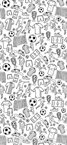 Free black and white soccer doodle iphone wallpaper. this design is available for iphone 5 Football Wallpaper Iphone, Iphone Wallpaper Bible, Iphone Wallpaper Inspirational, Watercolor Wallpaper Iphone, Wallpaper Images Hd, Iphone Wallpaper Glitter, Boys Wallpaper, Cute Wallpaper Backgrounds, Cute Wallpapers