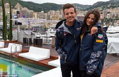 Awww: One Direction hunk Louis looked thrilled to be spending more time with his beautiful...