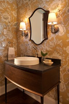 The wallcovering is Thibaut Rittenhouse. Hendel Homes. Interiors by Danielle Loven from Vivid Interior Design,