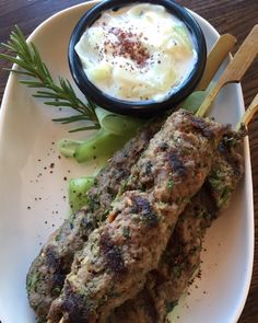 Happenings in California's Temecula Valley Wine Country - Beef kabobs on the fall menu at Annata Bistro/Bar, Mount Palomar Winery's on-site restaurant and full service bar. Enjoy some Mediterranean flair in Temecula Valley Southern California wine country. #mountpalomarwinery