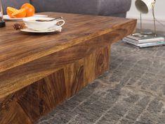 Wohnling Couchtisch 120 cm WL1.215 aus Sheesham Massivholz #Wohnzimmer #Lang #Wohnidee #große Ablagemöglichkeit #Holz