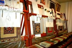 "Carpets on the looms. Carpet museum by ""Khazar"" University of Baku"