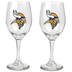 Officially Licensed NFL 2-piece Wine Glass Set - Minnesota Vikings