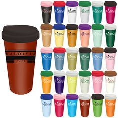 Ceramic Coffee Cups With Silicone Lids