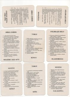 Szabály: Tartozékok: Tábla: Kártyák: ... Personalized Items