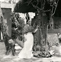 Kahlo in her garden, 1951. - The Cut