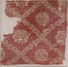 Object Name:      Fragment  Date:      6th–7th century  Geography:      Iraq or Syria  Medium:      Silk  Dimensions:      Textile: L. 6 1/8 in. (15.5 cm) W. 6 3/8 in. (16.2 cm) Mat: L. 8 7/8 in. (22.5 cm) W. 12 1/16 in. (30.6 cm) D. 1/2 in. (1.3 cm)  Classification:      Textiles-Woven  Credit Line:      Charles Stewart Smith Memorial Fund, 1915  Accession Number:      15.109