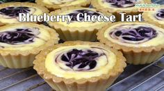 Blueberry cheese tart is made with crisp pastry, filled with rich cream cheese filling and top with bright beautiful blueberry filling. It has a great combination of sweet with hints of fruity sour… Tart Recipes, Baking Recipes, Dessert Recipes, Appetizer Recipes, Blueberry Cheese Tart Recipe, Blueberry Tarts, Fruit Tarts, Chinese Steam Cake Recipe, Homemade Ham