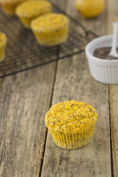 Lemon-Chia-Seed-Muffins (grain-free, gluten-free, nut-free opt) // replace almond milk with coconut milk or cream for nut-free
