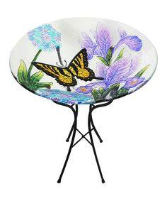 Another great find on #zulily! Butterfly & Iris Birdbath by Leigh Country #zulilyfinds