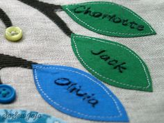 Family Tree personalized leaves