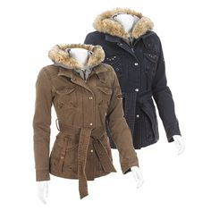 Cotton Canvas Jacket with Fleece Hoodie,…..i like this type of jacket…