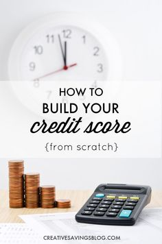 If you ever see yourself borrowing money down the road, you need a squeaky clean credit score. Here's how to build your credit score from the ground up! Fix Your Credit, Build Credit, Improve Your Credit Score, How To Get Credit, Credit Bureaus, Rewards Credit Cards, Borrow Money, Budgeting Finances, Financial Tips