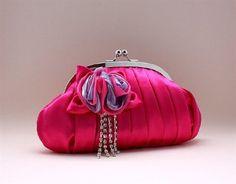 Sale: $19.99 | NWT Very Cute Bridal Accessories Rhinestoned Satin Handbag Evening Purse Mini Bag Wedding Clutch Holiday Birthday Gift