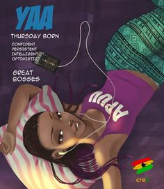 Fed up Black Woman — lexiiaaahh: Ghanaian Names and Meaning of the. Black Girl Cartoon, Black Girl Art, Black Women Art, Art Girl, Black Girls, African American Art, African Art, Ghanaian Names, Ghana Art