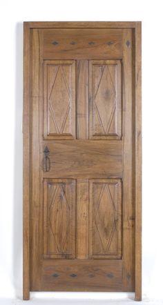 Porton clasico porte rustique porte en bois porte for Porte 4 panneaux