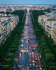 Top of the Arc de Triomphe, Paris, France.